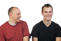 Young men having fun being silly Royalty Free Stock Images
