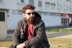 Young men with hipster look Stock Photography