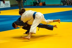Young men in Judo Royalty Free Stock Photography