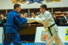 Young men in Judo Stock Image
