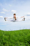 Young men jump Royalty Free Stock Images