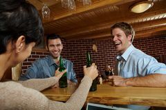 Friends in pub Stock Image