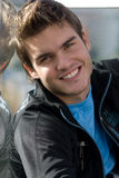 Young men looking at the camera. Young man looking at the camera smiling Stock Images
