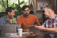 Young men programmers working together in the office Royalty Free Stock Photo