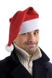 Young men in a santa's hat Royalty Free Stock Photos