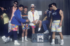 Young men and their boom box Stock Photos