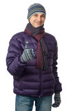 Young men in warmly clothing Stock Photo