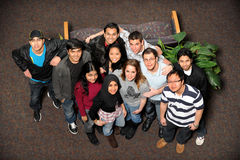 Young Men and Women of Different Ethnic Groups royalty free stock image