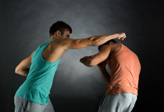 Young men wrestling Royalty Free Stock Photography