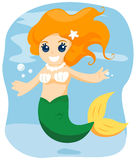 Young Mermaid Stock Photography