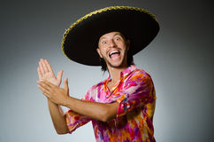 The young mexican man wearing sombrero Royalty Free Stock Photo