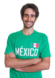 Young mexican sports fan with beard Stock Image