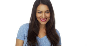 Young Mexican woman smiling Royalty Free Stock Photography