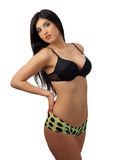 Young middle eastern woman in bra and panties Royalty Free Stock Photos