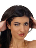 Young middle eastern woman portrait Royalty Free Stock Images
