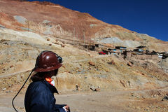 Young miner in cerro rico mine Royalty Free Stock Photos