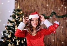 Young miss Santa  Stock Photo