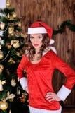 Young miss santa  Royalty Free Stock Photo