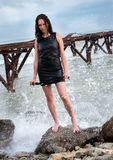 Young mistress and sea Stock Photography