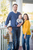Young Mixed Race Chinese and Caucasian Family Portrait Royalty Free Stock Image