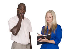 Young mixed race couple with tablet Royalty Free Stock Photo
