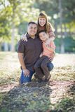 Young Mixed Race Family Portrait Outdoors Royalty Free Stock Images