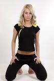 Young model. Young girl exercising aerobics and yoga Royalty Free Stock Photos