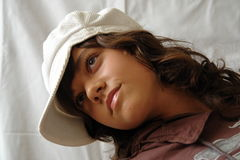 Young model. Young girl, photo model posing Royalty Free Stock Photography