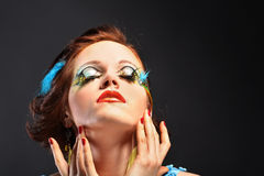 Young model beautiful women Royalty Free Stock Photo