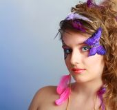 Young model beauty women Stock Photo