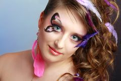 Young model beauty women Royalty Free Stock Photography