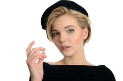 Young model in beret Stock Images