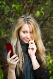 Young Model With Blond Hairs. Fall. Autumn Stock Photography