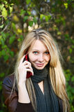 Young Model With Blond Hairs. Fall. Autumn Royalty Free Stock Images