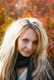 Young Model With Blond Hairs. Fall. Autumn Royalty Free Stock Image