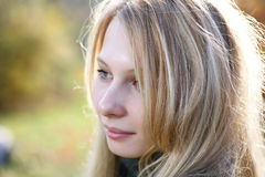 Young Model With Blond Hairs. Fall. Autumn Royalty Free Stock Photo