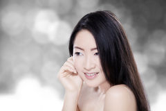 Young model with blur background Stock Images