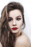 Young model with bright make-up Royalty Free Stock Images