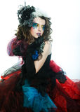Young model in carnaval dress Royalty Free Stock Photo