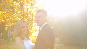 Young model couple in love stock footage