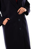 Young model dressed in  coat Royalty Free Stock Images