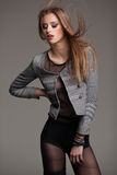 Young model dressed with style posing dramatic Stock Photography