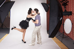 Young Model Kissing The Photographer Stock Photography
