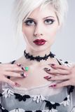Young model with nail design Royalty Free Stock Photo