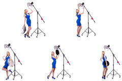 The young model during photoshoot in the studio Royalty Free Stock Images
