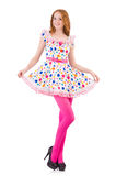 Young model with pink stockings Stock Image
