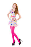 Young model with pink stockings Royalty Free Stock Photography