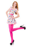 Young model with pink stockings Stock Photos