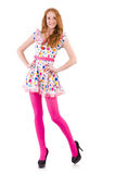 Young model with pink stockings Stock Images