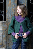 Young model portrait and door in background Stock Images
